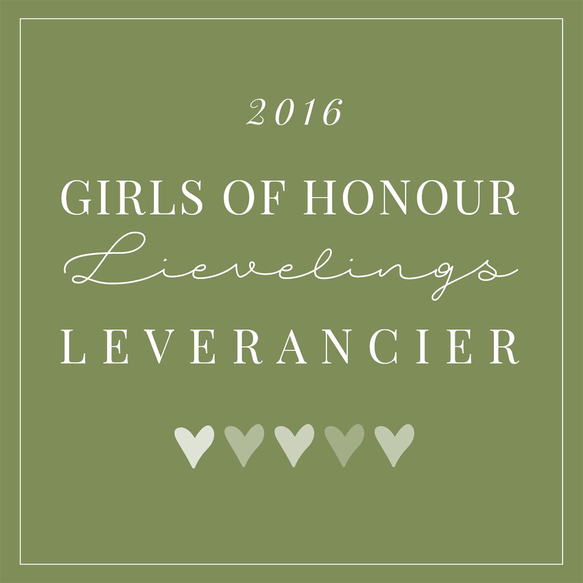 Girls of Honour lievelingsleveranciers